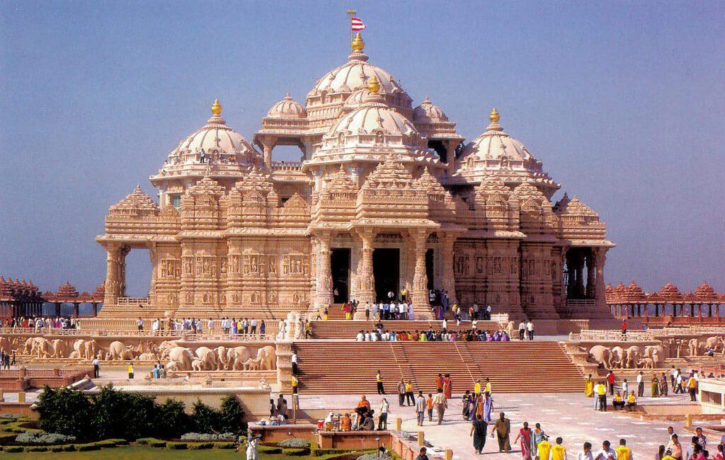 Akshardham-pontos turísticos da índia