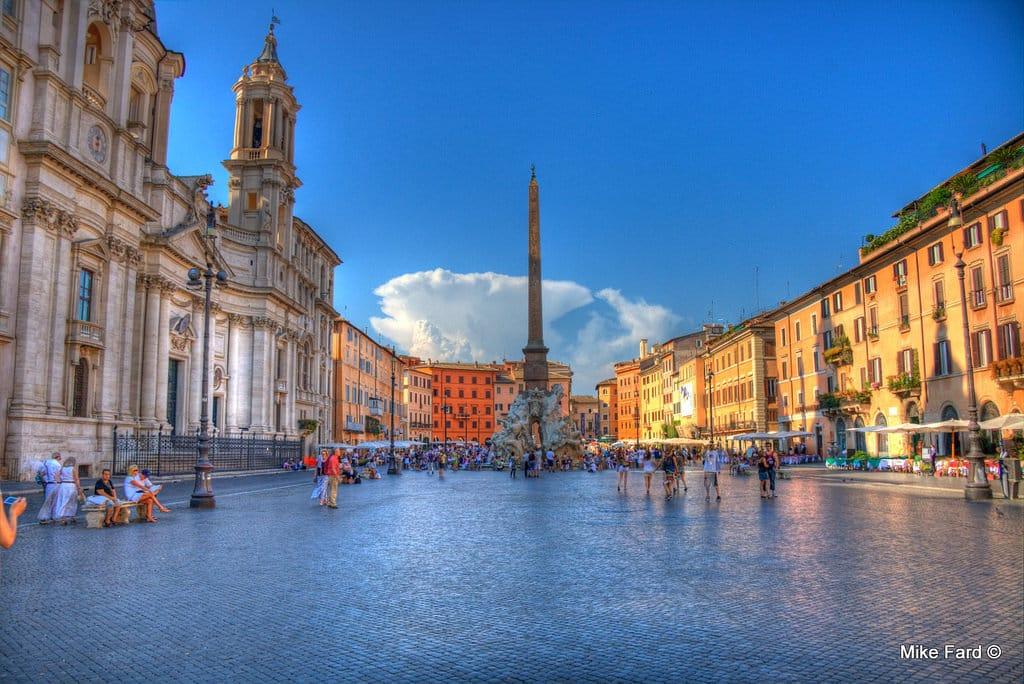 Praça_navona-pontos turísticos de Roma