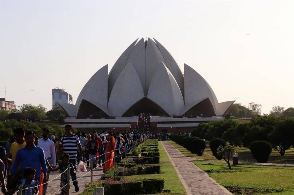 Templo Lotus Delhi Pontos Turísticos Da India