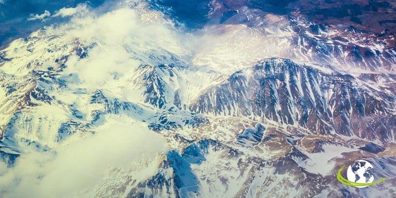 monte Aconcágua, em Mendoza, na Argentina